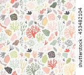 seamless vector pattern with... | Shutterstock .eps vector #453482104