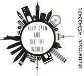 Travel Globe In Black And Whit...