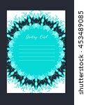 business mandala card template. ... | Shutterstock .eps vector #453489085