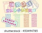 Cube Alphabet. Toy Blocks Font...
