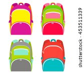 school backpacks collection... | Shutterstock .eps vector #453511339