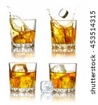 set of scotch whiskey glasses... | Shutterstock . vector #453514315