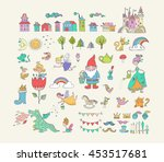 collection of fairy tales hand... | Shutterstock .eps vector #453517681