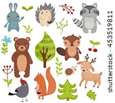 forest animals vector set of... | Shutterstock .eps vector #453519811