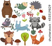 forest animals vector set of... | Shutterstock .eps vector #453519829