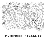 marine vector card isolated on... | Shutterstock .eps vector #453522751
