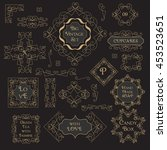 vintage floral set monogram... | Shutterstock .eps vector #453523651
