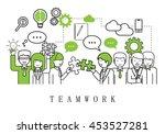teamwork  people team   on... | Shutterstock .eps vector #453527281