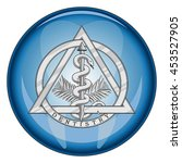 dentistry medical symbol button ... | Shutterstock .eps vector #453527905