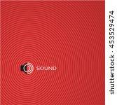 sound concept background design ... | Shutterstock .eps vector #453529474