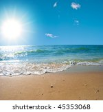 summer sea landscape with the... | Shutterstock . vector #45353068