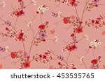 trendy seamless floral pattern... | Shutterstock .eps vector #453535765