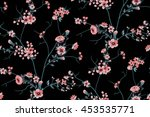 Stock vector trendy seamless floral pattern in vector 453535771