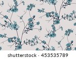 trendy seamless floral pattern... | Shutterstock .eps vector #453535789