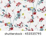 Stock vector trendy seamless floral pattern in vector 453535795