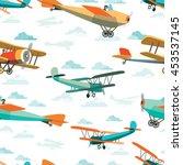 seamless pattern from vector...   Shutterstock .eps vector #453537145