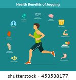 man running vector illustration.... | Shutterstock .eps vector #453538177