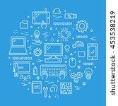 line web concept for computer... | Shutterstock .eps vector #453538219