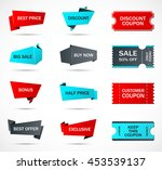 vector stickers  price tag ... | Shutterstock .eps vector #453539137