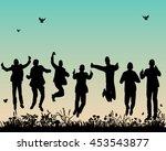 vector  isolated silhouette of... | Shutterstock .eps vector #453543877