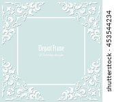 decorative square frame on...   Shutterstock .eps vector #453544234