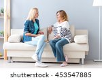 young woman talking with her... | Shutterstock . vector #453547885