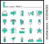 travel element line icon set 4...