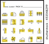 travel element line icon set 13....