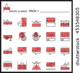 Airport Element Line Icon Set ...