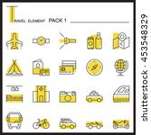travel element line icon set...