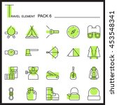 travel element line icon set 6...