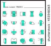 travel element line icon set 5...