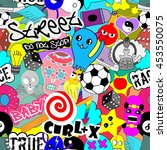 vector seamless pattern bright... | Shutterstock .eps vector #453550075