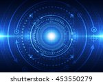technology abstract digital... | Shutterstock .eps vector #453550279