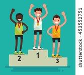 ceremony of awarding medals.... | Shutterstock .eps vector #453552751