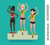 ceremony of awarding medals.... | Shutterstock .eps vector #453554005