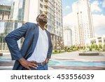male worker preparing for urban ... | Shutterstock . vector #453556039