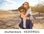 young beautiful loving couple... | Shutterstock . vector #453559021