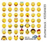 big emoticons set. nationalities   Shutterstock .eps vector #453564655