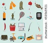 set of twenty fishing color... | Shutterstock .eps vector #453565921