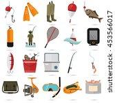 set of twenty fishing color... | Shutterstock .eps vector #453566017