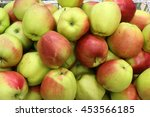 vegetables and fruits at the... | Shutterstock . vector #453566185