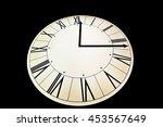 illuminated clock. | Shutterstock . vector #453567649