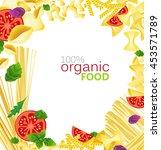 different varieties of pasta... | Shutterstock .eps vector #453571789
