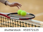 sport background with a tennis... | Shutterstock . vector #453572125