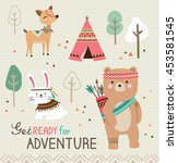 get ready for adventure. quote... | Shutterstock .eps vector #453581545