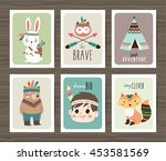 set of creative cards templates ... | Shutterstock .eps vector #453581569