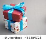 colorful gift box in important... | Shutterstock . vector #453584125