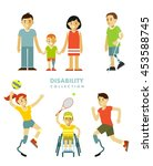 disability people set. young... | Shutterstock .eps vector #453588745