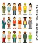 people characters standing... | Shutterstock .eps vector #453588751